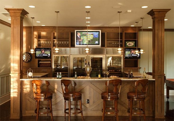 Interior : Wooden Home Bar Wood Expandable Brown Bar Cabinet Wood .