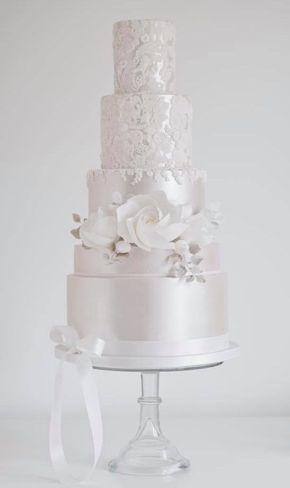 Empfohlener Kuchen: Baumwolle & Krümel; Hochzeitstorte Idee.   – Lindas tortas de novios