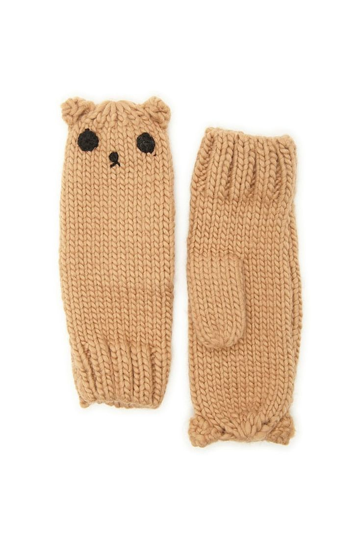 Bear Face Mittens