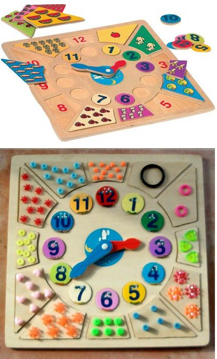 horloge/tactile clock for learning. Repin from Site enfant-aveugle. Awesome idea