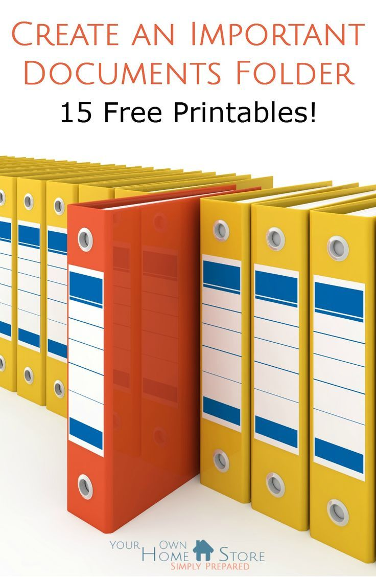 The most complete free printable important documents folder / grab and go binder avaialable online.  Also available in an electronically fill-able format to make changing info or correcting mistakes eaiser.  Include 15 pages and detailed tips and instructions.