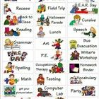I created these stickers to be turned into personal picture schedules for my students on the autism spectrum.  You can print the stickers on return...