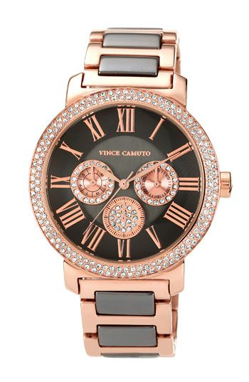 Vince Camuto Crystal Accent Multifunction Watch | Nordstrom - Possible Christmas present to myself???