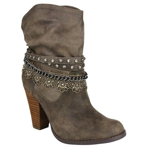 "Not Rated ""Lobsteria"" Olive Ankle Boot – Two Funky Cousins"