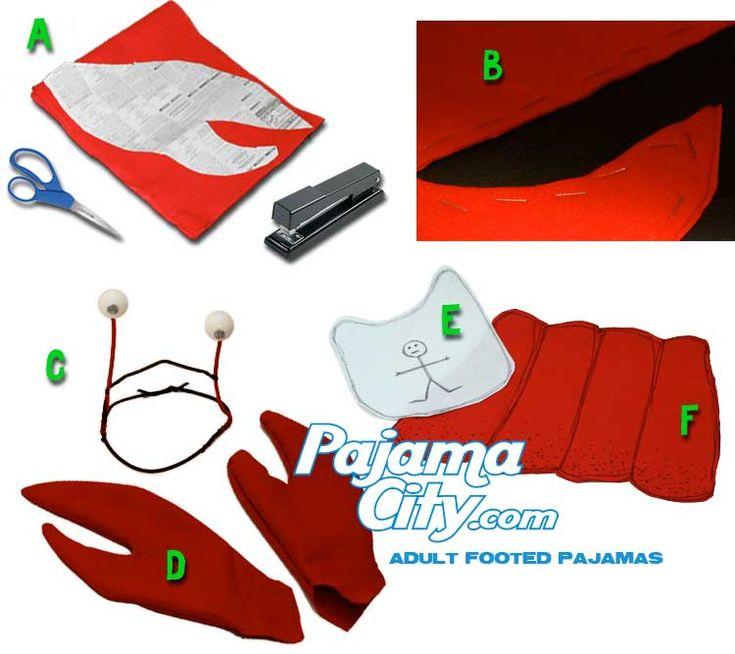 DIY Lobster Halloween Costume Idea Using Footed Pajamas – Pajama City