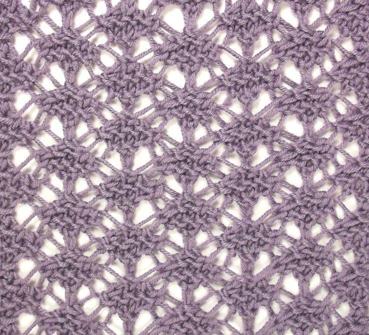 Tunisian Lace is another versitle reversible stitch.  Perfect for scarves and shawls.  It can be found in both the Lacy Stitches and Reversible Stitches categories.