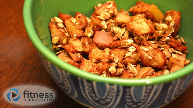 Homemade Toasted Apple Cinnamon and Oats Cereal - Healthy Snack Recipe | Fitness Blender