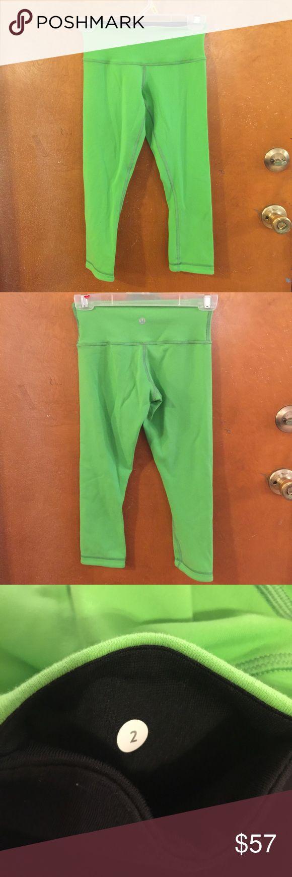 Lululemon lime green Capri leggings size 2 Lululemon lime green Capri leggings size 2 lululemon athletica Pants Leggings