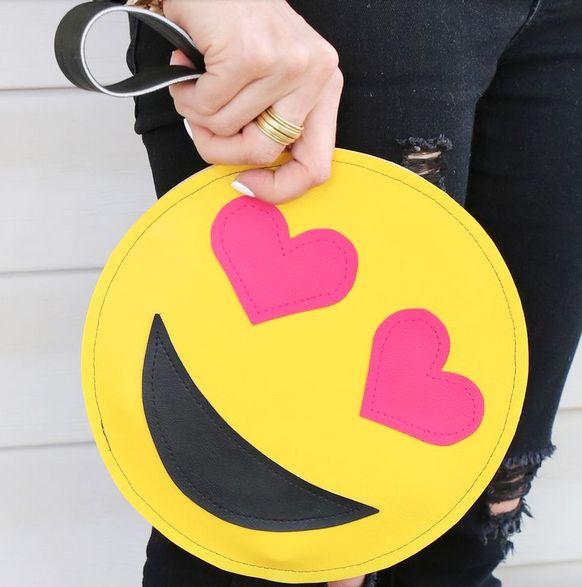 Emoji Homemade Clutch Fashion Diy