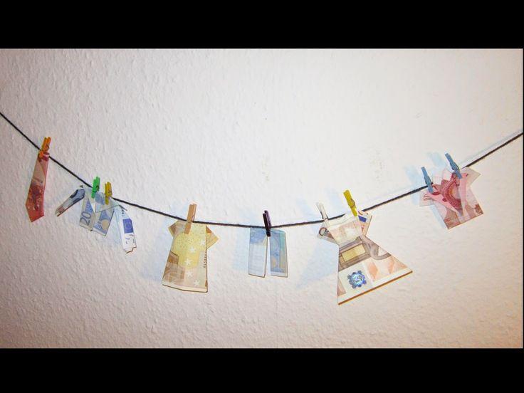 Der denkende Mensch . . .: Geldwäsche – Kleidung falten aus Geldscheinen als Geschenk