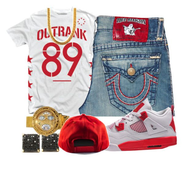 """""""21 Savage- Red Ops"""" by young-rich-nvgga ❤ liked on Polyvore featuring True Religion, men's fashion and menswear"""