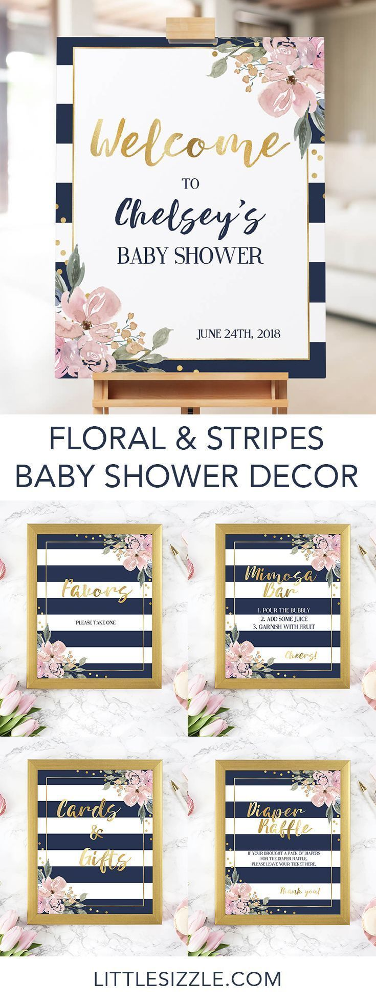 black and white stripes girl floral bring a book digital file instant download Black and White Floral Book Request Baby Shower Printable
