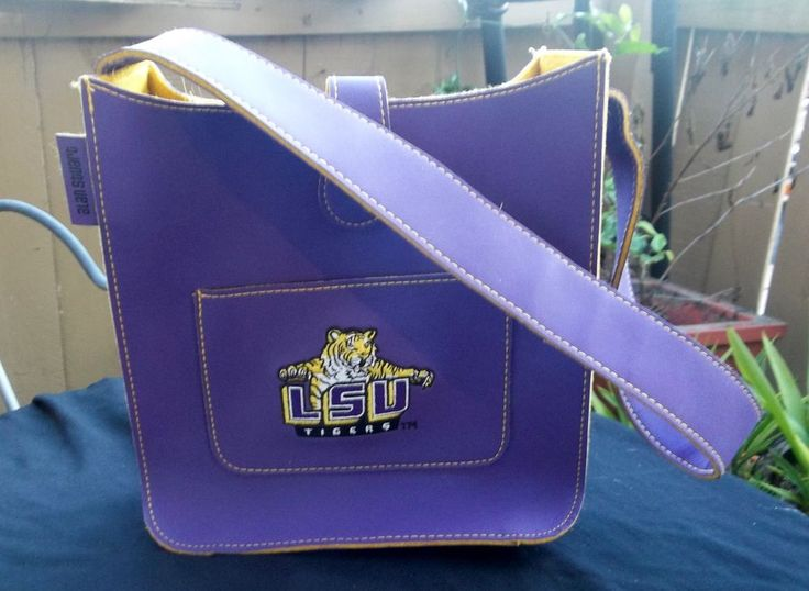 LSU Tigers Alan Stuart Purple & Yellow Purse New York Louisiana State University #LSUTigers