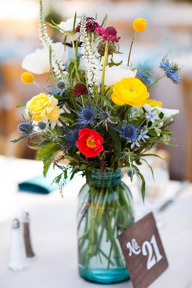 17 best images about wedding ideas on pinterest mason for How to arrange flowers in mason jar