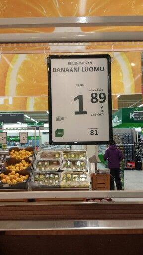 Luomu banaani