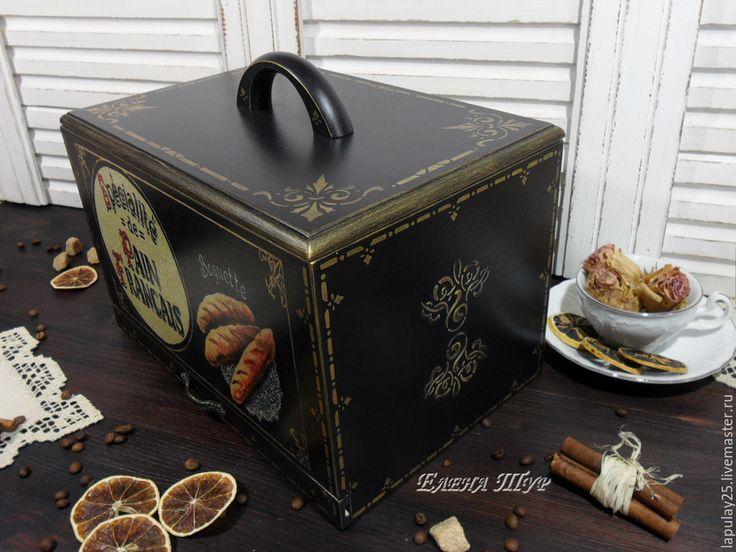 """Купить """"Baguette"""" хлебница - черный, хлебница купить, для хлеба, для кухни, кухонная утварь, кухонный декор"""