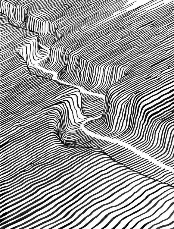 Los abstractos y líquidos paisajes y personajes creados por el artista Brendan Monroe.   + + + +                          — BRENDAN MONROE
