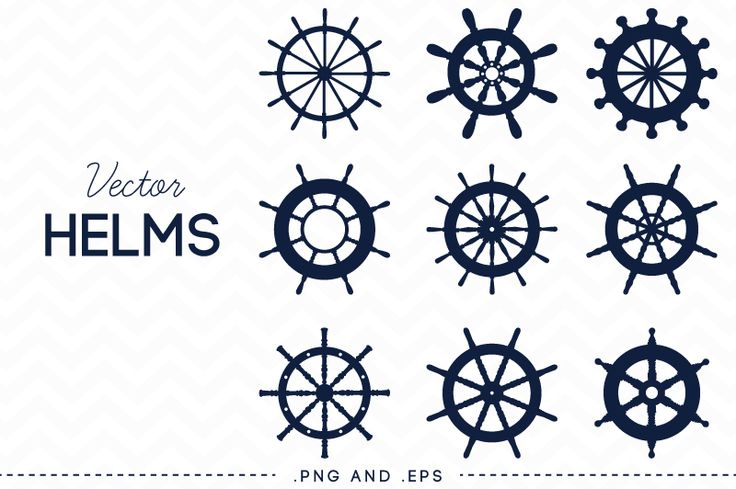 Nautical Steering Wheel Helm Vector by AzmariDigitals on Creative Market