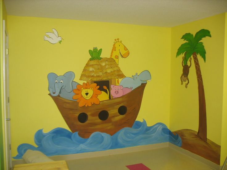 139 best images about church environment on pinterest for Church nursery mural