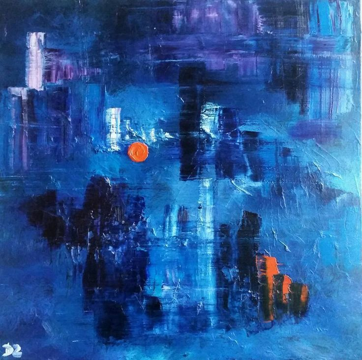 Here Comes the Sun, 60 x 60 cm oil on canvas by Daria Zaseda