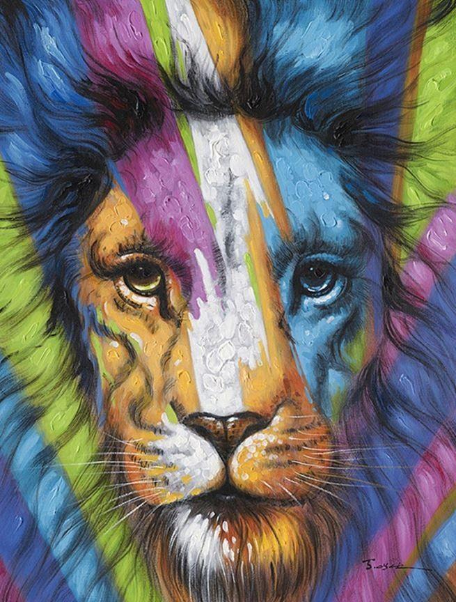 schilderij leeuw 90x120 | Schilderijenshop