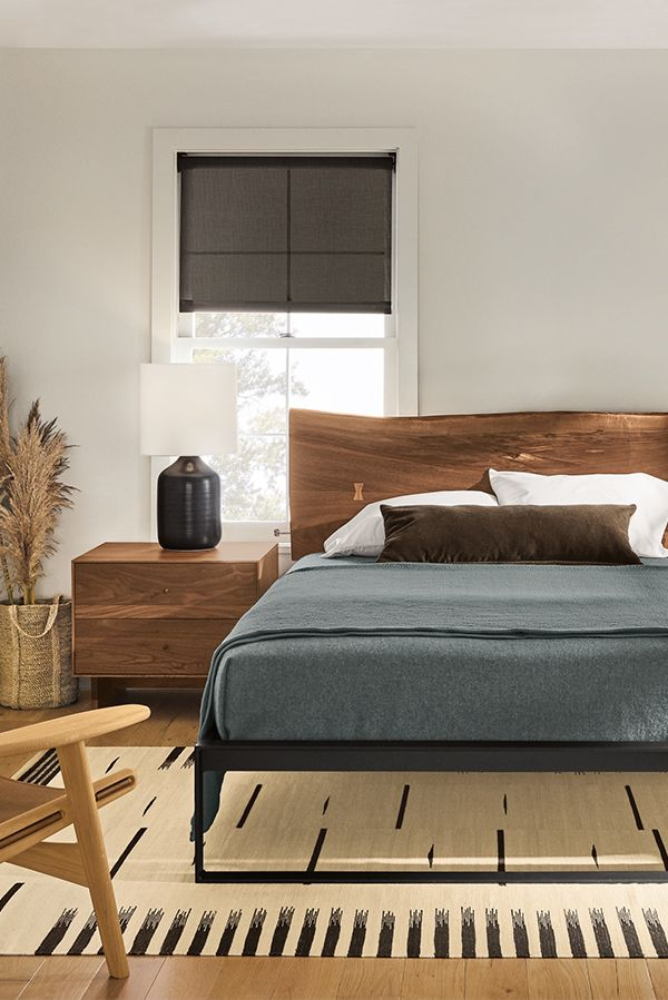 Chilton Bed In Walnut Modern Contemporary Beds Modern