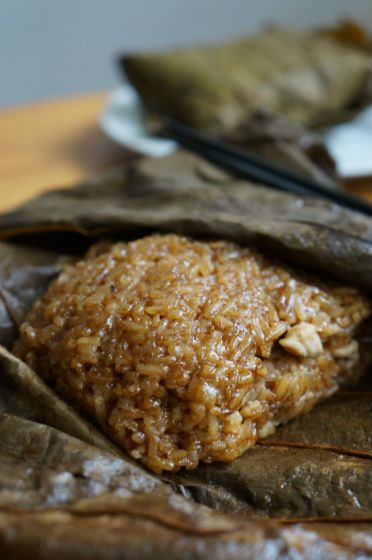 Piece of Cake: Glutinous Rice with Chicken in Lotus Leaf (荷香糯米鸡)