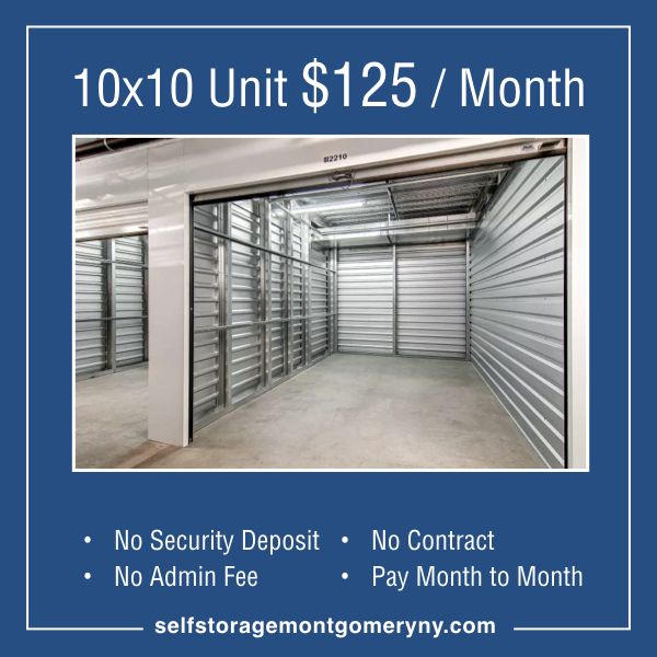 Don T Stress Do Your Best Forget The Rest Montgomery Ny Self Storage 10x10 Unit Now Just 125 Month No Security Depos With Images Self Storage The Unit Indoor Outdoor