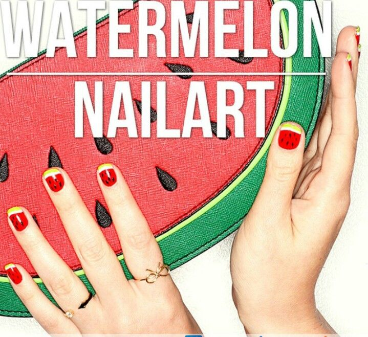 Watermeloen nagels