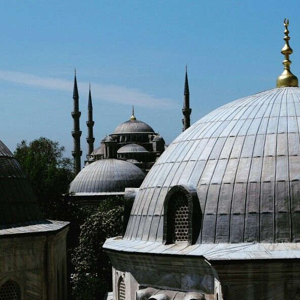Blue mosque from hagia sofia