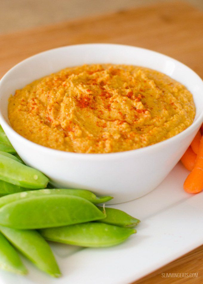 Delicious Low Syn Roasted Sweet Potato Hummus - this is a family favorite, once you try this you won't want to make regular hummus again