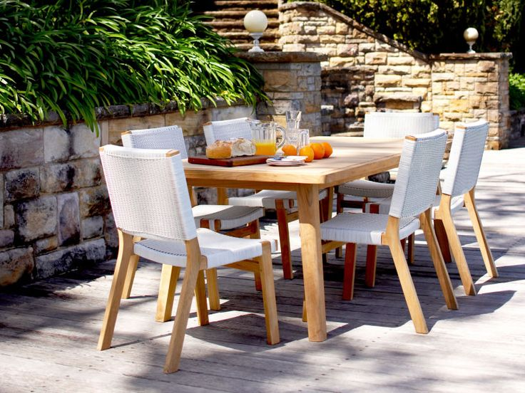 Barwon Dining Chairs With Waratah Dining Table. Outdoor Furniture | Patio  Furniture | Outdoor Dining