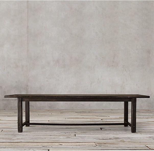 17th c spanish monastery rectangular dining table saint for Monastery extension dining table