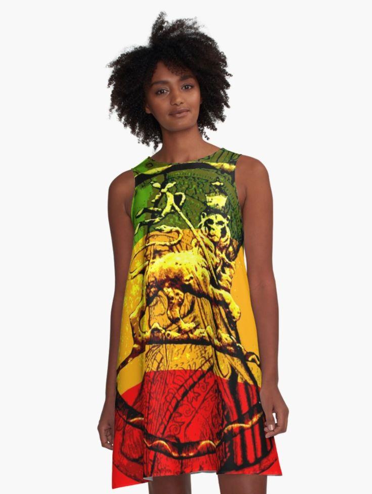 Jah Lion Rasta Dress A-Line