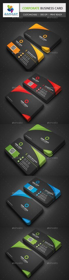 Corporate Business Card Template #design Download: http://graphicriver.net/item/corporate-business-card/12351612?ref=ksioks