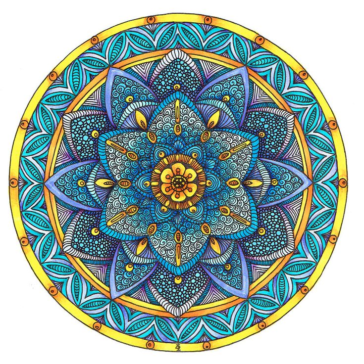 Coloured Mandala 2 July 2014 by Artwyrd on DeviantArt