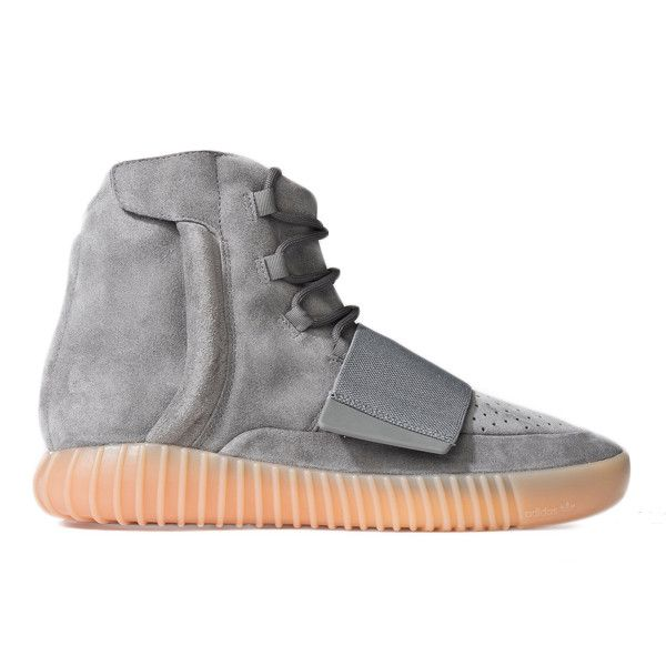 The YEEZY BOOST 750 Light Grey/Gum by Kanye West is his signature footwear model developed with adidas Originals. The sneaker boasts exquisitely developed materials including premium suede and a full