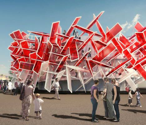 The Coca-Cola Beatbox will be at the 2012 Olympics in London. It's a musical structure that you can play.