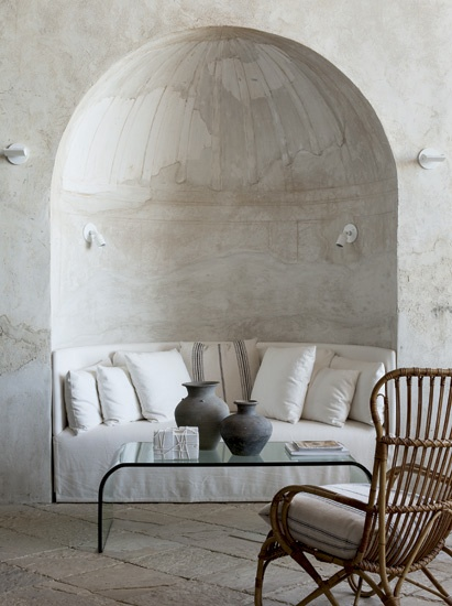 Arched nook-to sit and read a great book here...Decor, Cozy Nooks, Time Travel, Sitting Area, Romantic Places, Design Interiors, Reading Nooks, Curves Sofas, Richard Shapiro