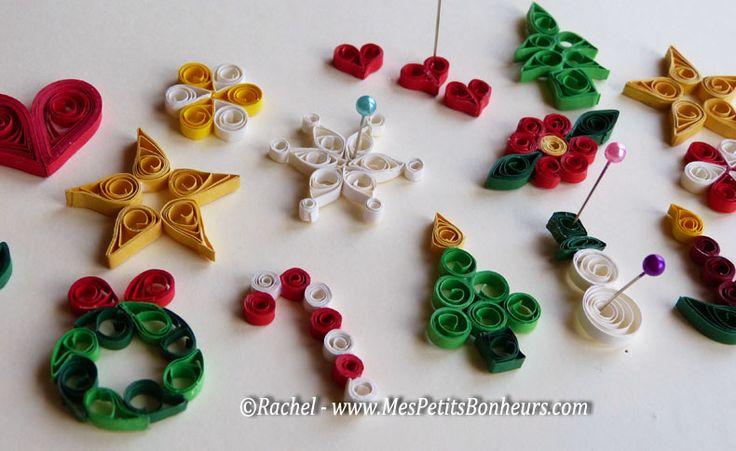 quilling   Quilling de Noël pour mon calendrier de l'Avent sapin en bois