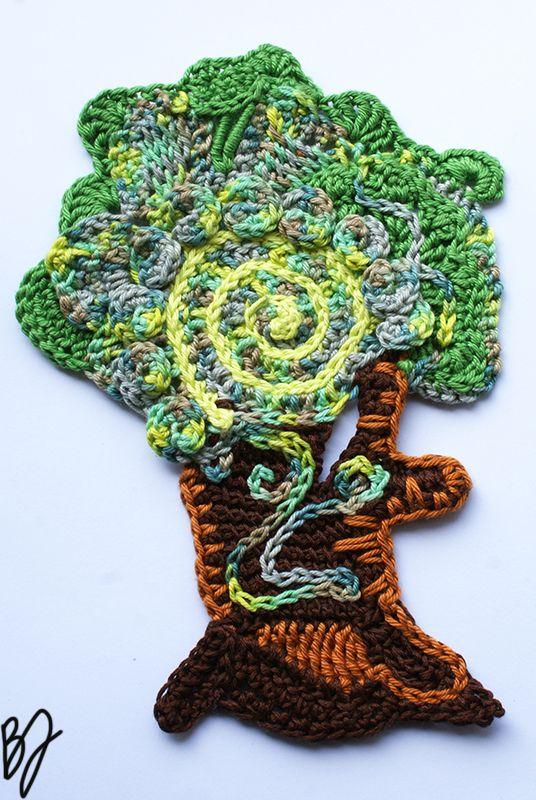 Freeform crochet tree by Asparasmascot.deviantart.com on @DeviantArt