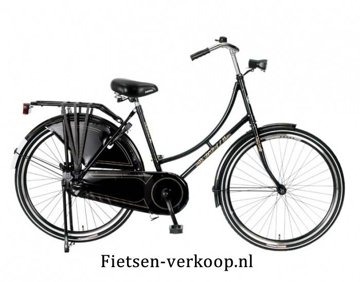 Omafiets Zwart 24 Inch | bestel gemakkelijk online op Fietsen-verkoop.nl