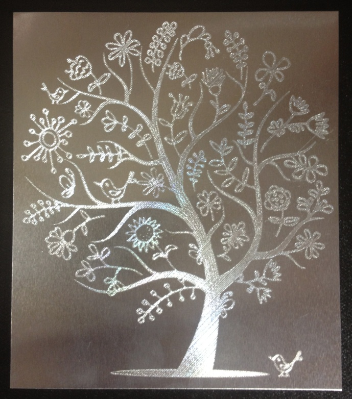 Tree Engraving - done at 800 mm/sec using the Silver Bullet Professional Electronic Die Cutting Machine