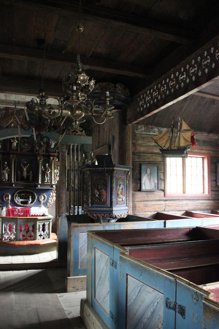 Garmo stavkirke - interiør