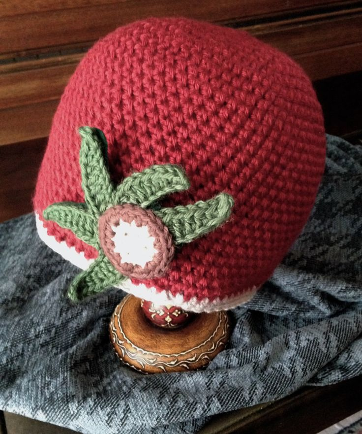 Buckeye Hat, Ohio State hat,scarlet and gray hat,OSU hat,scarlet and grey,women's Ohio State hat, crocheted buckeye pin included by SlenderStalk on Etsy https://www.etsy.com/listing/205537752/buckeye-hat-ohio-state-hatscarlet-and
