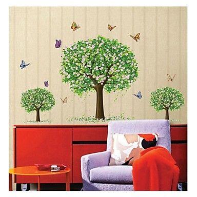vegg klistremerker Veggdekor, stil tre trær pvc vegg klistremerker – NOK kr. 175