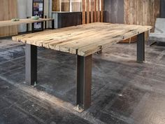 RAILROAD-Tisch-Esstisch-Schreibtisch-Eiche-Shabby-Chic-Spinder-Design