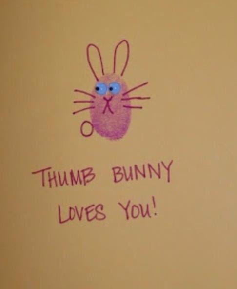 Easter idea really cute - Thumb Bunny