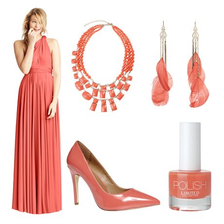 For a coral coloured wedding day