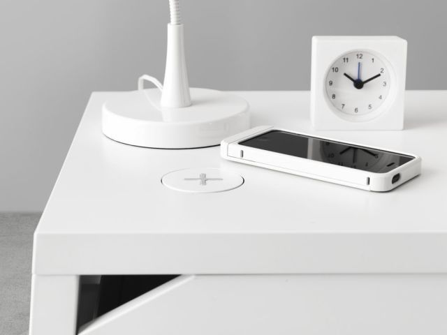Storage isn't just about beds and wardrobes. Bedside tables also need to work hard, so look out for styles with roomy drawers to help keep the top clutter free. @IKEAUK's Selje bedside table (pictured here) has a built-in wireless charger, so there are no unsightly wires beside the bed, creating a cleaner look. Find more inspiration at housebeautiful.co.uk
